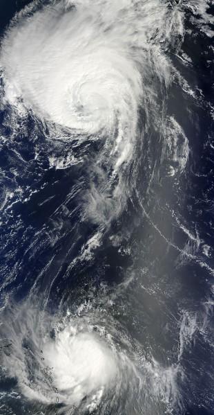 Hurricanes Danielle and Earl
