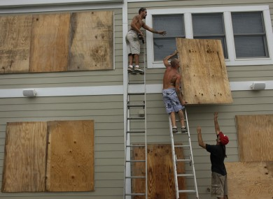 East coast residents begin preparing their homes for Hurricane Earl.