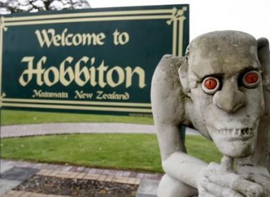 A sculpture of Gollum, the villainous