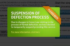 Church defection website suspends service over legal vagueness