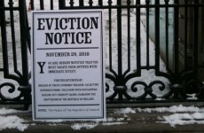 In photos: Eviction notice served on government