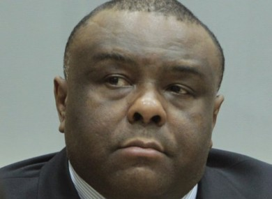 Jean-Pierre Bemba is seen in court at the International Criminal Court in The Hague.