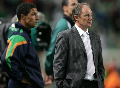 Brian Kerr, right, and Chris Hughton worked together as part of the Ireland set-up.