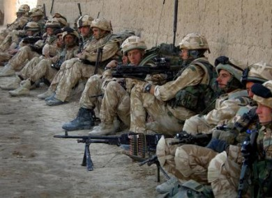Royal Marines fighting against against Taliban forces in the village of Barikyu in Nothern Helmand Province, Afghanistan.