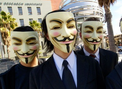 Members of 'Anonymous' often wear Guy Fawkes masks in public, inspired by the film 'V for Vendetta'.