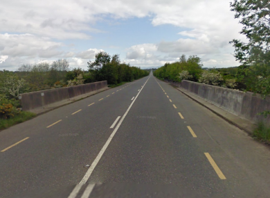 The old M1 at Cangy, Dunleer, Co Louth, where this afternoon's accident occurred.