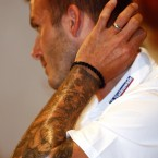 David Beckham. Human canvas. <span class=