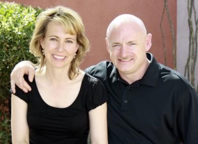 Gabrielle Giffords and husband Mark Kelly