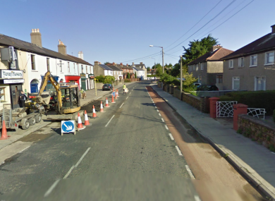 Vevay Road in Bray, where a 19-year-old was assaulted with a broken bottle this morning.