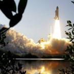 Space shuttle Discovery lifts off from the Kennedy Space Centre in Cape Canaveral, Florida, for its final trip to the International Space Station. Pic: AP Photo/Terry Renna.