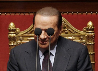 Shield thine eyes: Pics of a naked Silvio are alleged to be in circulation