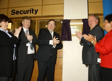 Outgoing Taoiseach Brian Cowen officially opens the Midland General Hospital in Tullamore last night