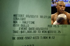 Floyd 'Money' Mayweather bets $41,000 on one half of basketball