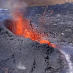 The US Geological Survey captured this stunning image of the Kamoamoa eruption on Tuesday in Hawaii. (AP Photo/US Geological Survey)