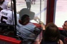 Hockey 'keeper caught betting with a fan during a game