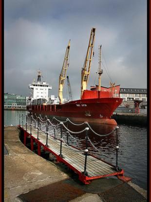 Thor Gitta in Galway Harbour.