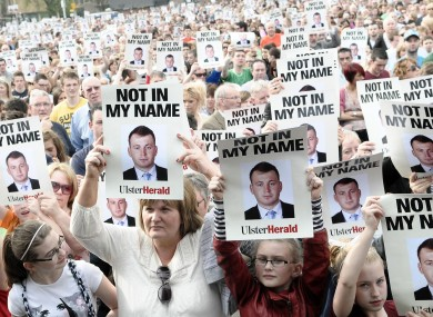 Thousands of people gathered in Omagh for a peace walk in memory of Ronan Kerr earlier this month