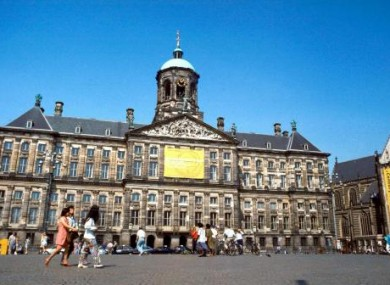 The exterior of the Royal Palace in Dam Square, Amsterdam, Holland