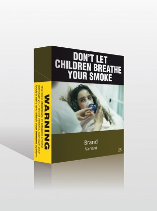Mocked up cigarette packet by the Minister for Health and Ageing of Australia