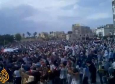 Footage of the protests was broadcast on Al Jazeera.