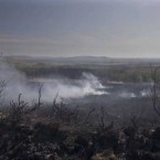 The landscape outside Pontoon in Mayo is charred after a weekend of fires