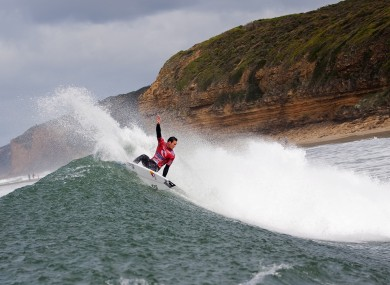 Jordy Smith of South Africa competes in the Rip Curl Pro surfing event at Bells Beach in Victoria, Australia, last week.