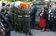 Hundreds gather at the removal of Brian Lenihan