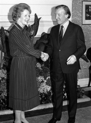 The Iron Lady meets the 'wily' man in Downing Street in May 1980