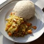 Ugali, a porridge-like dough of maize meal (Favourite in Kenya)<span class=