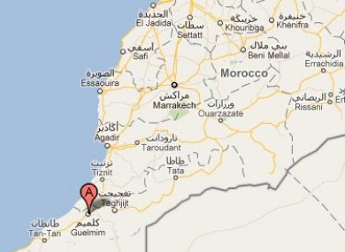 The plane crashed near the southern Moroccan city of Guelmim.