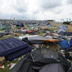 The debris after festival-goers left the Oxegen campsite (Sasko Lazarov/Photocall Ireland)