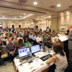 Crowds at the Allsop Space auction of distressed properties in the Shelbourne Hotel, Dublin (Sasko Lazarov/Photocall Ireland)