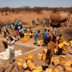 Trucking clean water in rural areas of southern Ethiopia, where poor rains left water sources dry.
