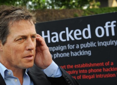 Actor Hugh Grant calling for an inquiry into phone hacking last year. He recorded Paul McMullan telling him about the use of phone hacking by some journalists.