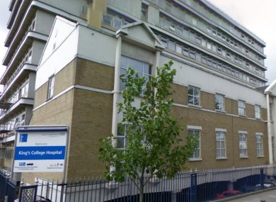 King's College Hospital London, where Meadhbh was to receive her liver transplant