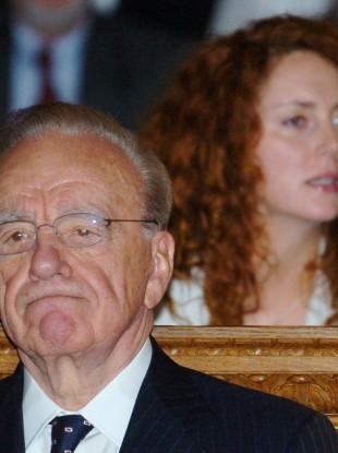 News Corporation chairman Rupert Murdoch and Rebekah Brooks, who resigned today.