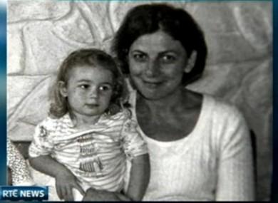 Una Butler with her daughter Ella