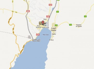 Eilat lies on the border with Egypt.