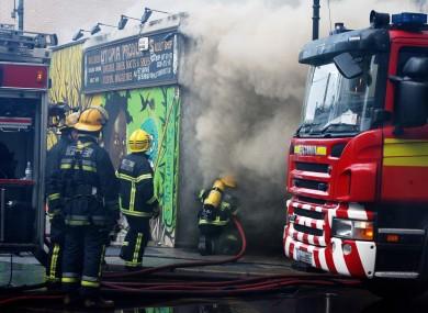 Dublin Fire Brigade officers tackle a blaze (File photo)