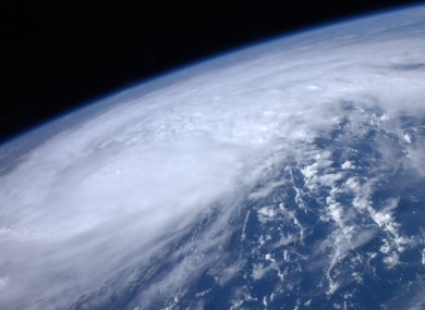 Hurricane Irene, as photographed from space yesterday by ISS astronaut Ron Garan.