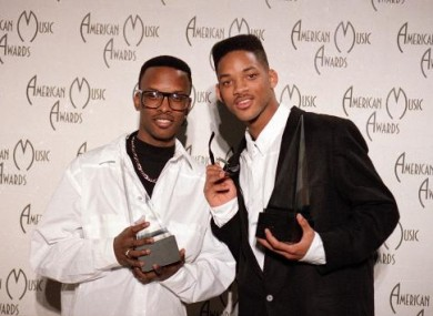 DJ Jazzy Jeff and Will Smith (The Fresh Prince) in 1989 after winning twice at the American Music Awards