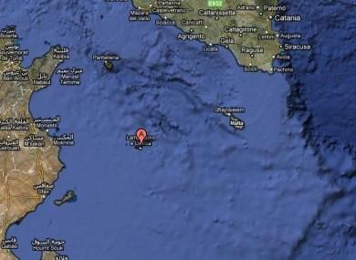 Lampedusa lies in the Mediterranean sea.