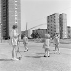 The Ballymun flats in north County Dublin were built in 1966 as part of a plan to move families out of the crowded city centre and away from tenement life.