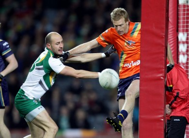 Kennelly in International Rules action for Ireland.