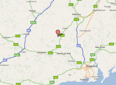 Kilvemnon is two miles south-east of Mullinahone and close to Tipperary's border with Kilkenny.