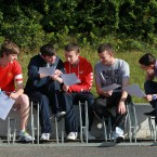Luke O'Dwyer, Paul Lowther, Cian Dawson, Alex Reilly and Andrew Dennis from St Kevins (Leon Farrell/Photocall Ireland)