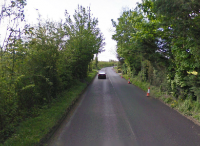 The Kilkenny to Freshford road at Troyswood, where this evening's fatal accident occurred.