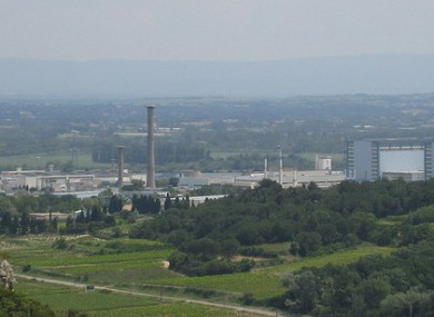 The site of the nuclear plant.