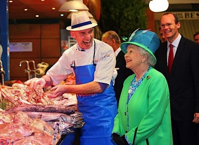 That photo: Cork fishmonger Pat O'Connell with Queen Elizabeth in May.