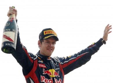 Vettel celebrates in Monza